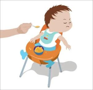 difficulty feeding babies children